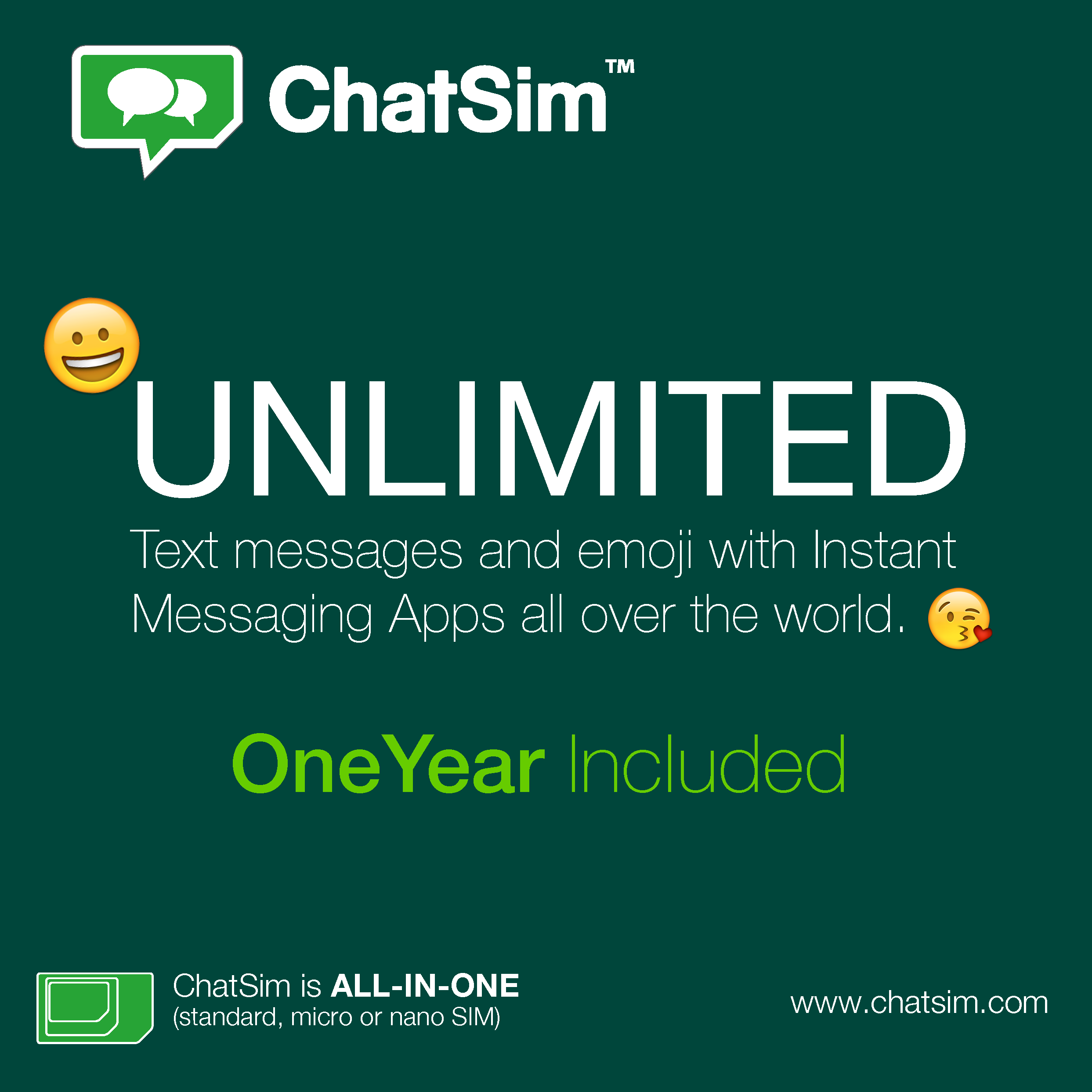 ChatSim – International sim card for chat apps